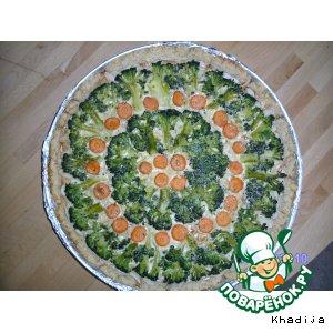 Рецепт Овощной пирог с брокколи под соусом карри