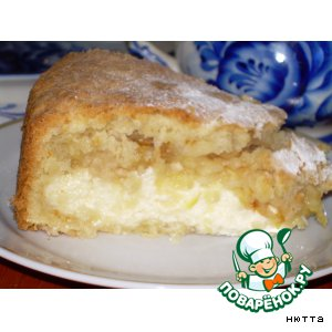 Рецепт Яблочно-лимонный  творожный  пирог