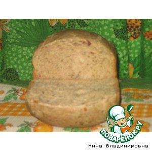 Рецепт Хлеб с сыром и сырокопченой колбасой