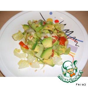 Салат из авокадо, сельдерея и.. домашний рецепт с фотографиями пошагово готовим