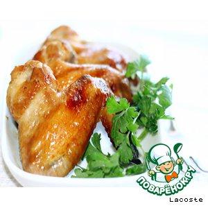 Рецепт Золотистые куриные крылья