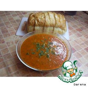 Рецепт Томатный крем-суп с макаронами