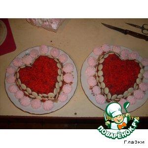 """Рецепт Торт """"Влюбленное сердце"""""""
