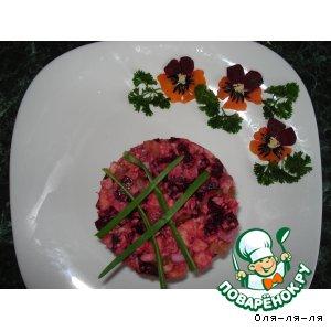 Рецепт Винегрет с консервированной горбушей