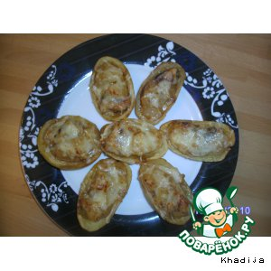 """Рецепт Картофельные лодочки, фаршированные индейкой по-тайски """"Для Натти"""""""