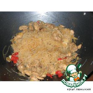 Рецепт Рисовая лапша с острой курицей
