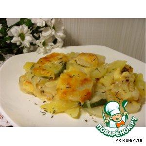 Рецепт Картофель, запеченный с кабачком и тимьяном