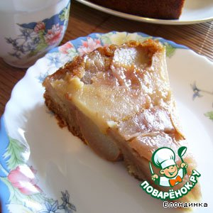 Рецепт Медово-имбирный пирог с грушами