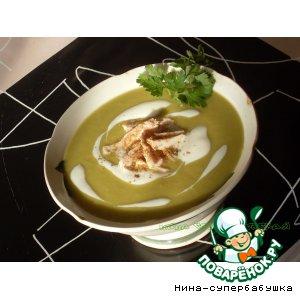 Рецепт Суп-пюре из зеленого гороха