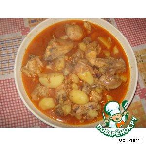 Рецепт Корма  с курицей и картошкой