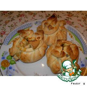 Рецепт Мешочек с яблоком и корицей  (слойка)