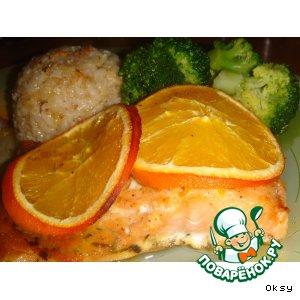 Рецепт Форель с апельсинами