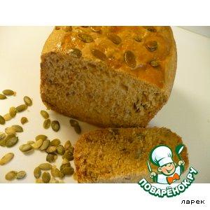Рецепт Пшенично-ржаной хлеб с паприкой, овсяными хлопьями и тыквенными семечками