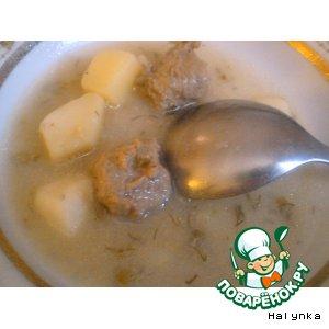 Рецепт Суп рыбный с куриными фрикадельками