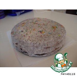 Рецепт Бисквитный торт с кремом из творога