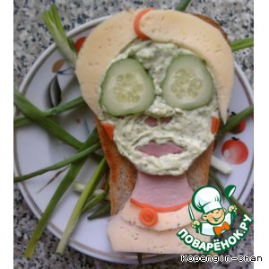 "Рецепт Бутерброд ""Моя любимая жена"""