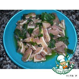 Рецепт Салат-закуска из свиных ушей - Salada de orelha