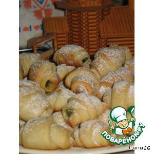 Рецепт Рогалики на огуречном рассоле с начинкой