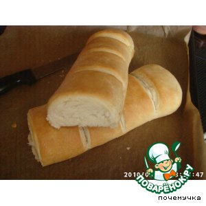 Рецепт Белый Слоеный Хлеб