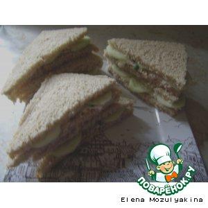 Рецепт Английские сандвичи с огурцом