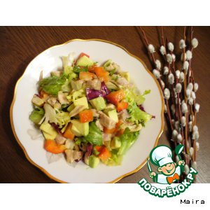 Рецепт Куриный салат с авокадо