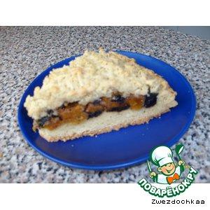 Рецепт Песочный пирог с начинкой из сухофруктов