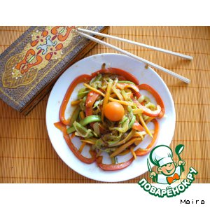 Рецепт Спагетти из овощей