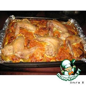 Рецепт Запеканка с мясом и курицей