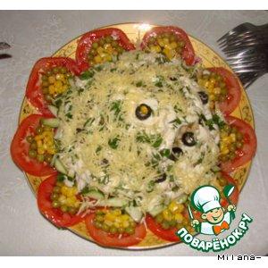 Рецепт Слоеный овощной тортик