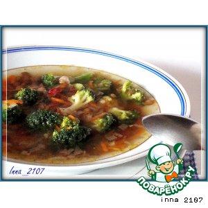 Рецепт Суп из чечевицы с брокколи
