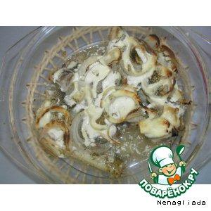Рецепт Рыба, запеченная под сметаной