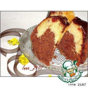 Рецепт Мраморный кекс с вишней