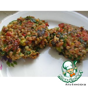 Рецепт Котлеты с гречкой и овощами