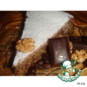 Рецепт Кофейно-шоколадный кекс с грецкими орехами