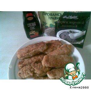 Рецепт Куриные палочки или Ленивые чебуреки