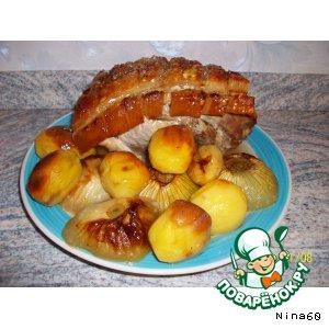 Рецепт Мясо, приготовленное в духовке