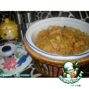 Рецепт Капуста в горшочке, запеченная с беконом