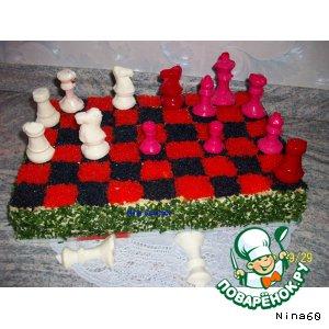 Рецепт Шахматный бутербродный торт