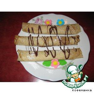 Рецепт Постные блины с бананом и шоколадом