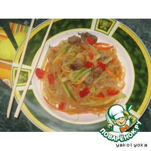 "Рецепт Азиатский салат ""Фунчоза"""