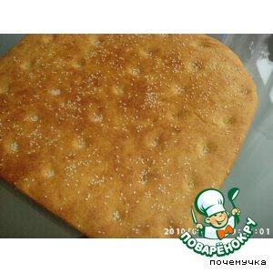 Рецепт Фокачча желтая - кукурузная лепешка