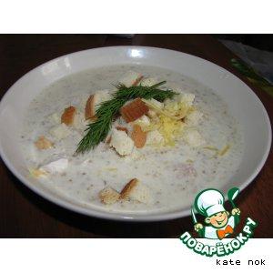 Рецепт Сырно-молочный грибной суп-пюре