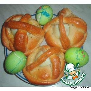 Рецепт Корзиночки с яйцом