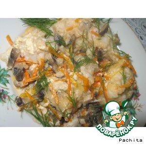 Рецепт Рыба с корейской морковью