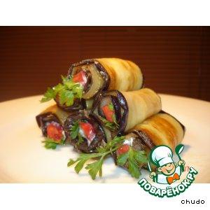 Трубочки из баклажана пошаговый рецепт с фото как приготовить