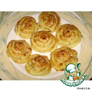"""Рецепт Картофель """"Дюшес"""" с грибами и луком"""