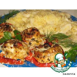 Готовим вкусный рецепт с фотографиями Филе судака с картофельными клецками