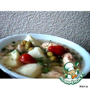 Рецепт Суп рыбный с маринованными помидорками