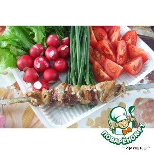 Рецепт Шашлык в майонезе из свинины