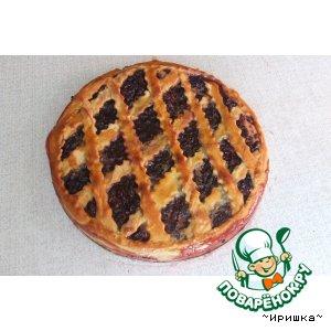 Пирог из дрожжевого теста  с  вареньем вкусный рецепт приготовления с фото